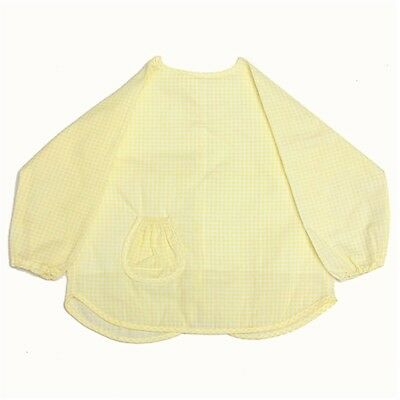 Baby Infant Toddler Waterproof Long Sleeve Apron Overall Food Catcher Bib KL