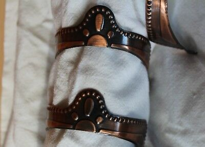 2 Pairs Dingo Brushed Copper Heel Guards Rands For Western Boots