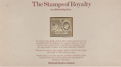 The Stamps of Royalty Silver Proof .925 Stamp Replica : 1 1/2D  NO14