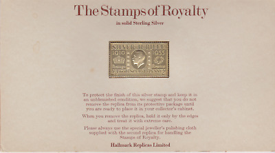The Stamps of Royalty Silver Proof .925 Stamp Replica : £1 One Pound  NO 1