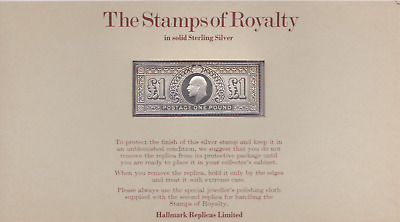 The Stamps of Royalty Silver Proof .925 Stamp Replica : £1 One Pound  NO 11