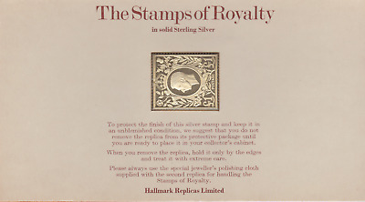 The Stamps of Royalty Silver Proof .925 Stamp Replica : £1 One Pound  NO 19