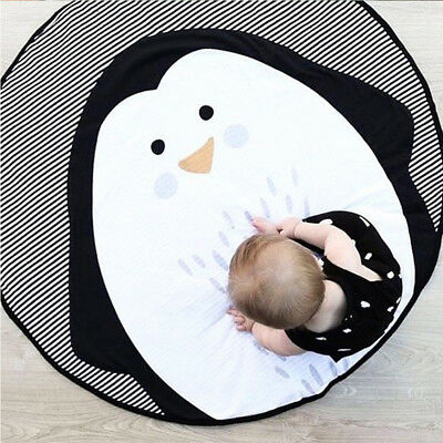 Cartoon Penguin Baby Toddler Play Crawling Mat Carpet Infant Activity Rug Ornate
