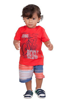 eb99886bbbd1 PULLA BULLA BABY Boy 2-Piece Set Graphic Shirt and Shorts Outfit ...