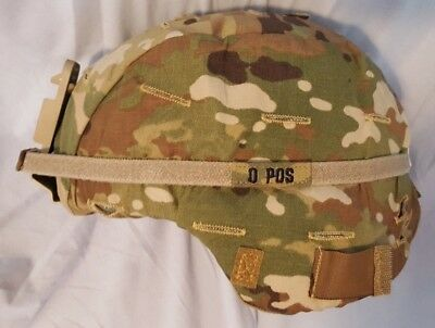 Advanced Combat Helmet (ACH) W/OCP Cover-Personalized Strap-NVG Shroud NEW Small