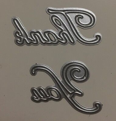 'Thank You' Sign Metal Cutting Die Suitable for Most Die Cutting Machines