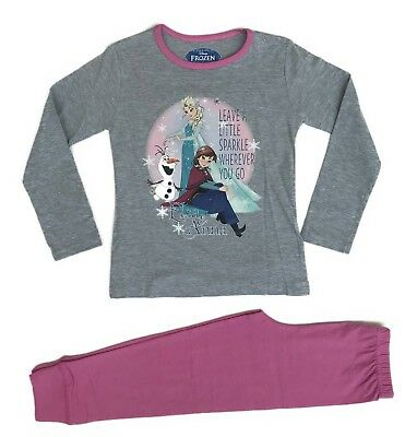 Official Disney Frozen Pyjamas Pajamas Pjs Girls Children Nightwear 5 6 8 10