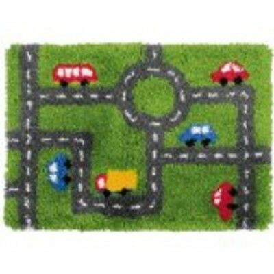 "Latch Hook Rug Kit""Road and Traffic"" 90x45cm"