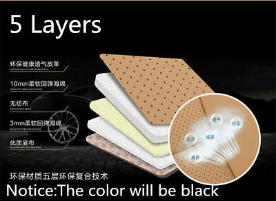 PU Leather Deluxe Car Cover Seat Protector Cushion Black Front Cover Universal V