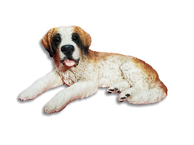 Castagna Italy Vintage 1988 Resin St. Bernard Puppy Dog Laying Figurine Figure
