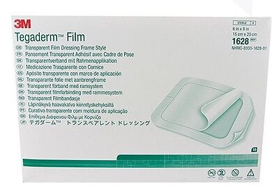 Tegaderm Film Dressing 3M 1628 15 x 20 cm MEDICAL TATTOO x 10  6in x 8in NEW