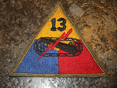 WWII US ARMY 13th  ARMORED DIVISION SHOULDER PATCH