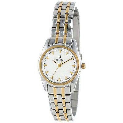 Bulova Women's $199 Two-Tone Stainless Steel, Gold Accents Dress Watch 98L138