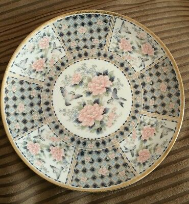 Japanese Decorative Plate porcelain/china  Blue birds & Stunning Pink blossom