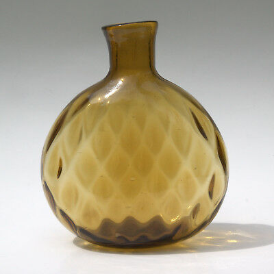 CLEVENGER BROTHERS Diamond PATTERN MOLDED Midwestern CHESTNUT FLASK REPRODUCTION