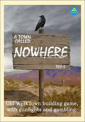 A Town Called Nowhere. Old West town building board game. Wild West. Western.