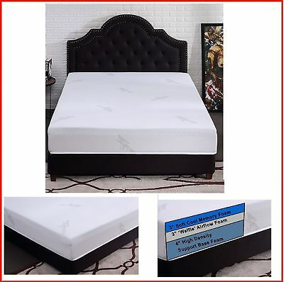 12 Inch Cool Gel Memory Foam Mattress Queen Size Bed Medium Firm