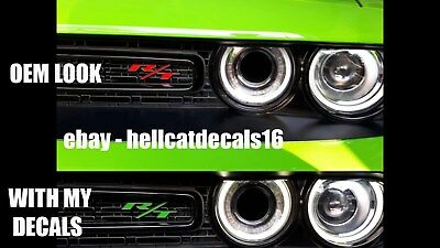 """Dodge Challenger """" R/T """" Grill Emblem Overlay Decal 2015 2016 2017 2018"""