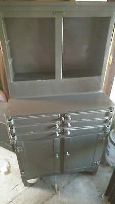 Antique American Medical Aseptic Dental Cabinet Industrial Apothecary  Steampunk