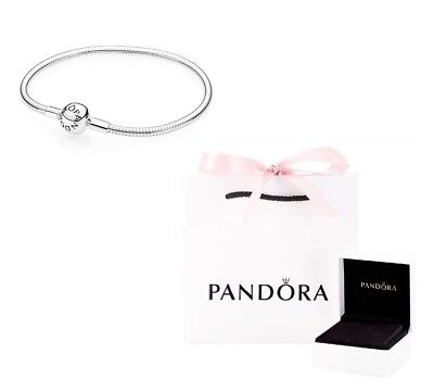New Genuine Pandora Silver Moments Smooth Clasp Bracelet 590728 All Sizes Uk