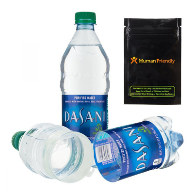 Dasani Diversion Safe Water Bottle Stash Can with Human Friendly Smell-Proof Bag