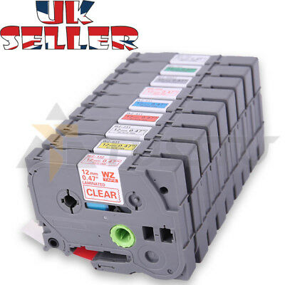 Compatible Brother TZ TZE Label Tape Cartridge for P-Touch Printer - 12mm x 8m