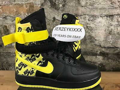 d79fbce4ecca4 NIKE SF AIR Force 1 Hi Men s Boot Black Dynamic Yellow AR1955-001 ...