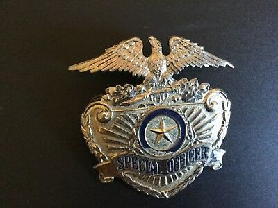 Security Special Officer  Badge Silver Tone Eagle