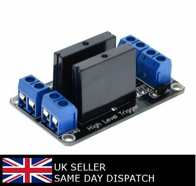 5V 2 Channel Solid State Relay SSR 240V 2A Module for Arduino Raspberry Pi
