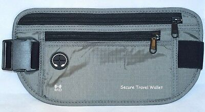 Travel Wallet Money Belt RFID Block Hidden Waist Cell Phone Passport Waterproof