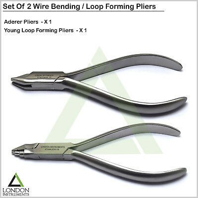 Orthodontics Loop Forming Pliers Dental Wire Bending Contouring Aderer Three Jaw