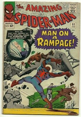 """Amazing Spider-Man # 32 VG Classic """"Man on A Rampage"""""""