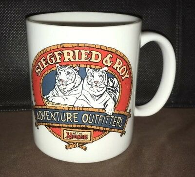 Rare Siegfried And Roy Coffee Mug/cup Mirage Hotel Las Vegas White Tigers