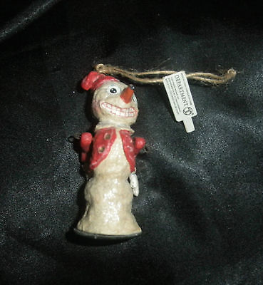 Department 56~*Folk Art Snowman Ornament*~Christmas