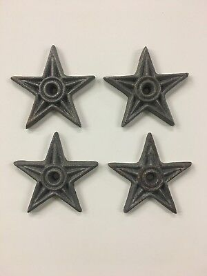 4 Cast Iron Metal Architectural Masonry Stars Lone Star Washers Texas 4 1/4""