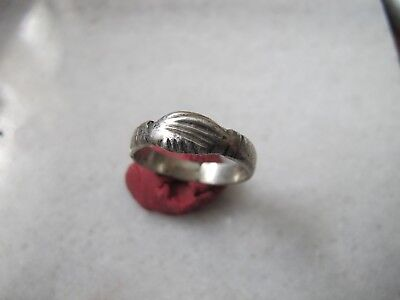 Antique Byzantine Pre Georgian Medieval Ancient Silver Clasped Hands ring