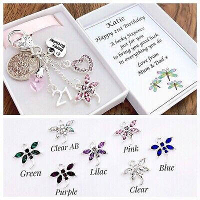 LUCKY SIXPENCE 30th BIRTHDAY GIFT DRAGONFLY CHARM IN A LOVELY BOX