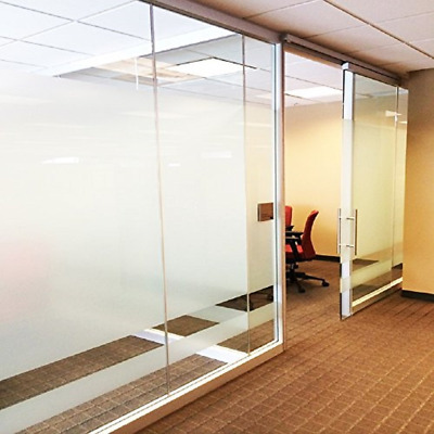 """Privacy Window Film Frosted No Glue Static Cling Office Home 2 Rolls 17.7""""x78.7"""""""