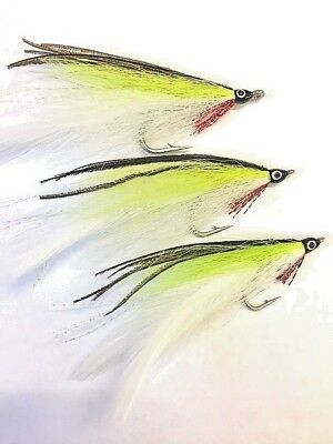 6 Salt Water Lefty Kreh Chartreuse Deceiver flies