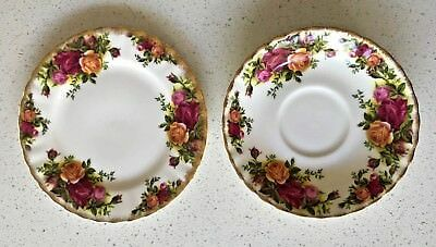 Lovely Vintage 'old Country Roses' Royal Albert Bone China Plates From England