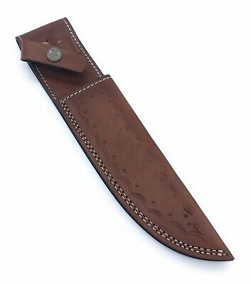 "YA13/ 11""Custom Handmade Leather Sheath For 6""—7"" Cutting Blade Knife"