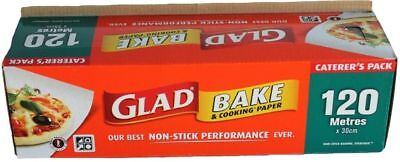 GLAD BAKE PAPER 120 Metres x 30cm BAKING PAPER GREASE PROOF - FREE POST