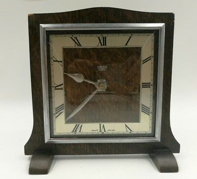 vintage oak mantel clock Smiths Sectric