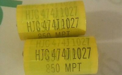 20 x 0.0047uF / 630 VOLT POLYESTER AXIAL CAPACITOR * NEW STOCK * 5% TOL. *