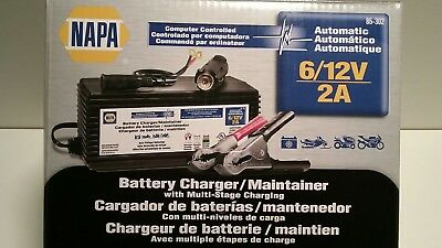 BATTERY CHARGER NAPA 4/2 Amp 6/12 Volts Automatic Bench - Multi-Stage  Charging