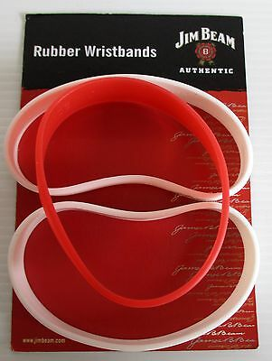 Jim Beam Bourbon brand new set of 3 rubber wrist bands with card included