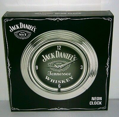 Jack Daniels OLD No 7 Neon Wall Clock brand new for home bar pub or collector