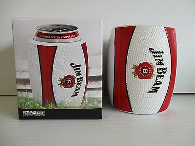 Jim Beam Bourbon brand new boxed fan made history stubby can holder cooler