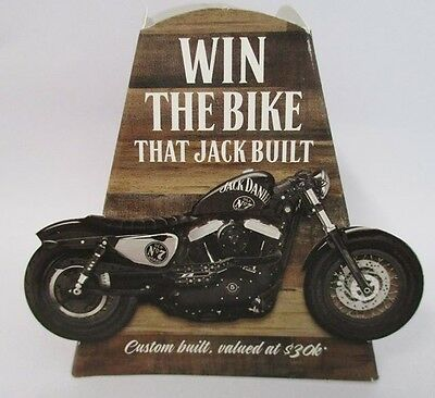 Jack Daniels brand new 3D carboard bottle topper for home bar or pub collector