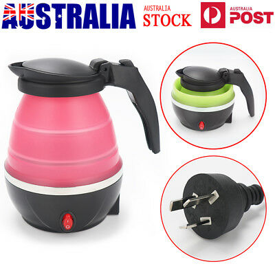 Foldable Silicone Electric Water Kettle Collapsible Water Pot Travel Outdoor AU